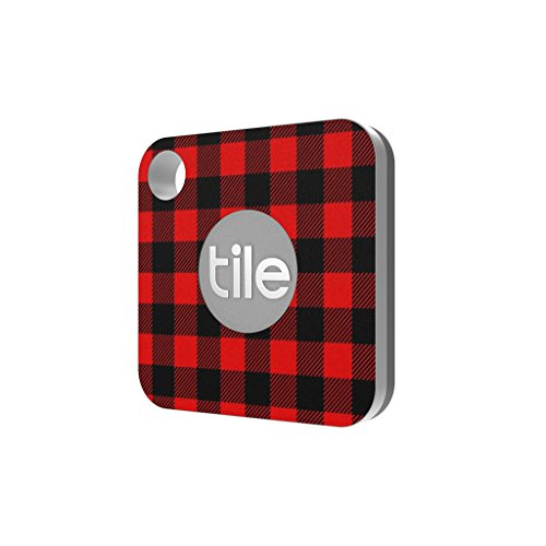 Plaid Red Black Skin Decal by Aretty Compatible with Tile Mate Key (Chain Plaid Cover)