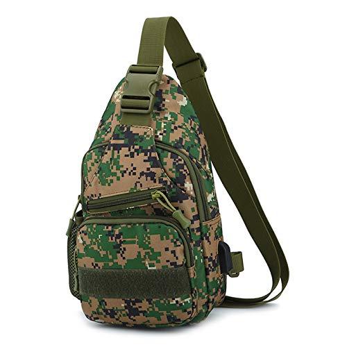 Gisdanchz Wasserdicht Schultertasche Sling Bag Militär Rucksäcke Shoulder Bag Herren Damen