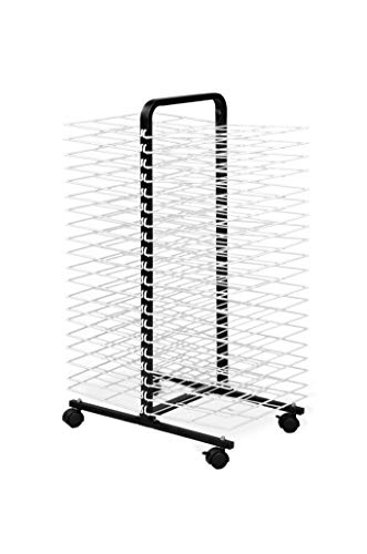 "American Educational Products A-C1168 Drying Rack on Wheels, 40 Shelf, 7"" Height, 18"" Wide, 48"" Length"