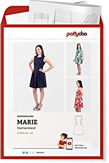 a4a5635ee2 Stoffe Werning Schnittmuster Pattydoo Damenkleid Marie Gr. 32-48  Papierschnittmuster