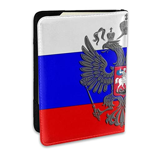 Russian Flag Russian Coat Of Arms Fashion Leather Passport Holder Cover Case Travel Wallet 6.5 In ()