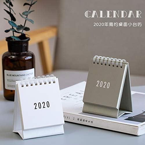 2020 in Dieser Reihe von kleinen Planner Dual einfache Kalender Desktop-Papier Täglich Scheduler Tabelle Jahr Agenda Organizer (Color : Light Grey)