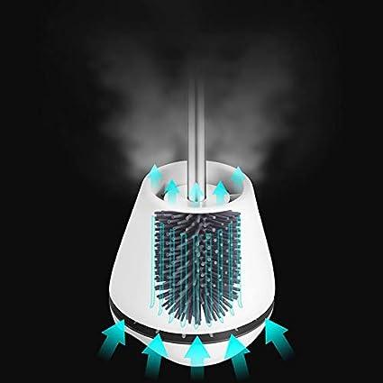 HDL Brosse de Toilette Brosse WC en Silicone Antibact/érienne Balayette WC Ensemble Brosse de Toilettes /à Manche Long avec Support Hygi/énique