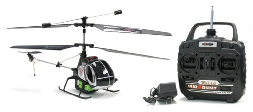 Electric 3CH Black Dragon Hughes RTF Remote Control RC Helicopter (Color May Vary)