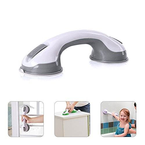 YOUDirect Grab Bar - Strong Suction Cup Balance Assist Bar Anti-slipping Handle Grip Safety Hand Rail Helping Tool Wall Mount Bathroom Balance Bar (Grey)