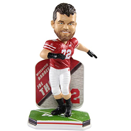 Joe Thomas Wisconsin Badgers Limited Edition College Football Name and Number Bobblehead - Cleveland Browns by Forever Collectibles