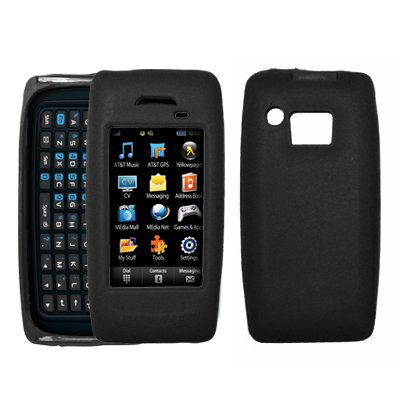 (Black Soft Silicone Gel Skin Cover Case for Samsung Impression A877 [Accessory Export Packaging])