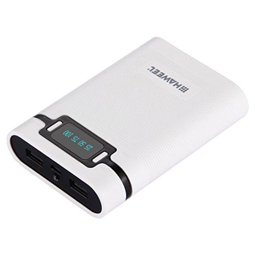 20000mah Slim Powerbank with LCD and 3 USB Port (White) - 1