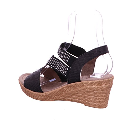 Noir avec forme une plate Noir sandalesSandales Jana chaussures xYWEqwaRnH