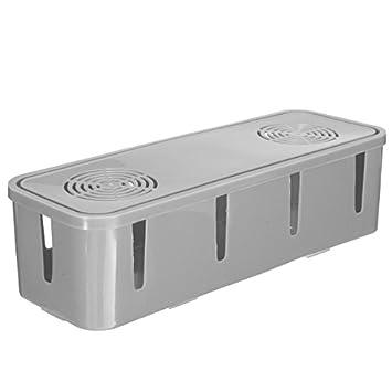 Multi Plug Socket Anti-dust Safe Storage Box Cable Wire Cord Organizer