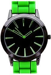 New Geneva Lime w/ Black Silicone Watch
