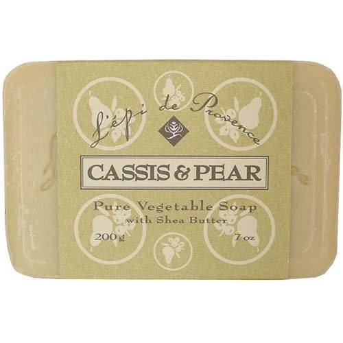 L'epi de Provence Triple Milled Cassis & Pear Shea Butter Vegetable Soaps from France 200g
