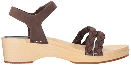 Women's Tanja Sandal Swedish Nubuck Heeled Chocolate Hasbeens Debutant OwqAA5E7Z