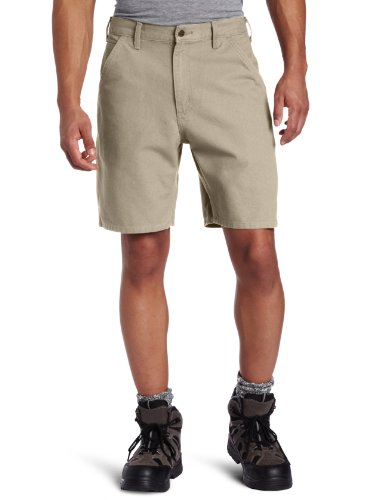 Short Carpenter Washed - Carhartt Men's Washed Duck Utility Work Short B25,Desert,34