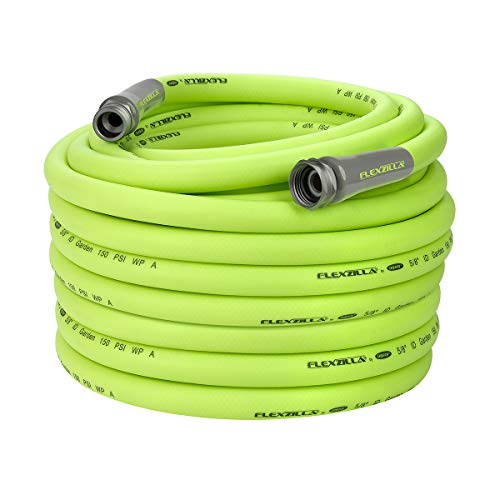 - Flexzilla Garden Hose, 5/8 in. x 100 ft., Heavy Duty, Lightweight, Drinking Water Safe - HFZG5100YW