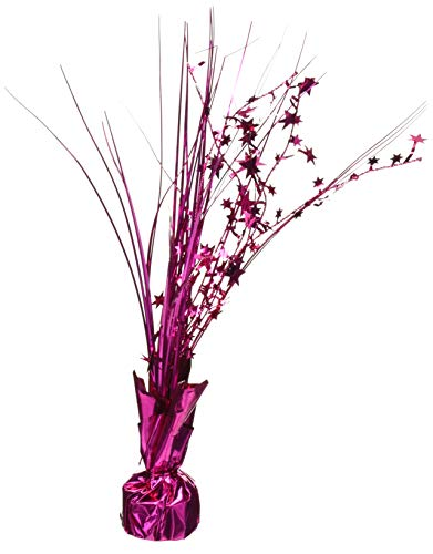 Amscan 110002.103 Foil Spray Centerpiece 12 inches Bright Pink ()