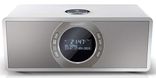 SHARP DR-S460 Stereo digitale radio/DAB, DAB+, Bluetooth, FM-radio, alarm-/slaap- en snooze-functie, 30 watt, houtlook…