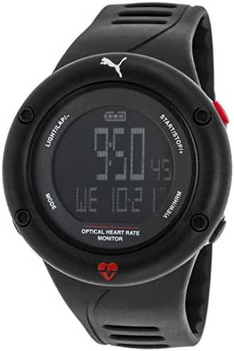 PUMA Unisex PU911291001 Optical Cardiac Black Digital Display Watch