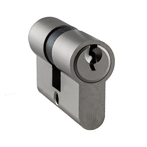 3 Schl/üsseln *Not und Gefahrenfunktion* Profilzylinder f/ür Glast/üren 25//30 inkl