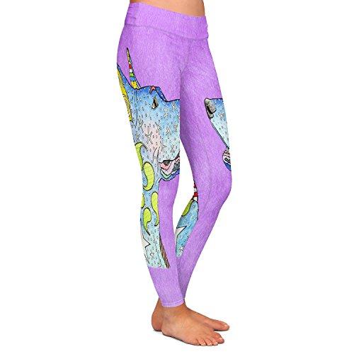 DiaNoche Designs Athletic Yoga Leggings artist Marley Ungaro - Great Dane Violet
