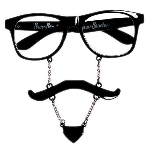 Black Soul Patch Sun-Stache - Sunglasses Downey Robert