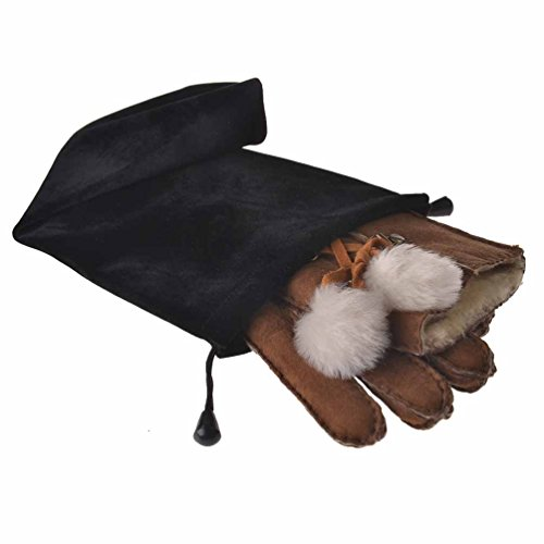 YISEVEN Women's Rugged Shearling Sheepskin Winter Gloves