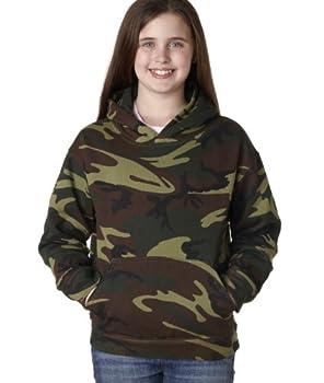 Code V Unisex Camouflage Hood, Large, Green Woodland