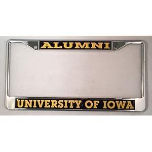 University of Iowa Hawkeyes Alumni License Plate Frame