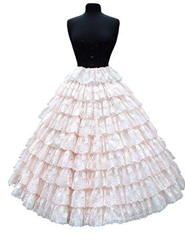 Women's Lace 6 Hoop Bridal Dress Petticoat Gown Slip Full Plus Size (Cheap In Stock Dance Costumes)