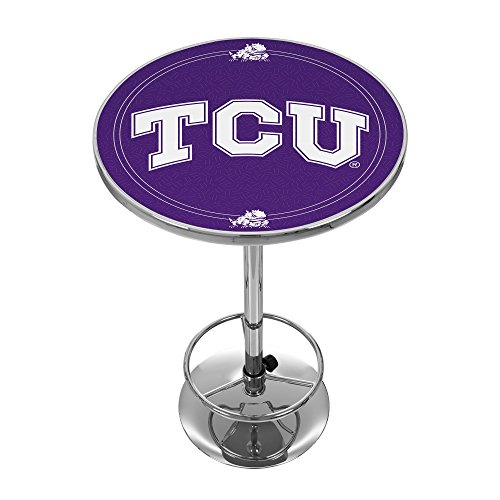 NCAA Texas Christian University Chrome Pub Table by Trademark Gameroom