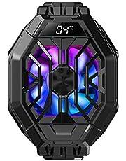 Apobob Refrigerador de telefone Black Shark 2 Pro com temperatura de exibição, radiador refrigerador para dissipador de calor semicondutor iOS/Android de 2,6 a 3,5 polegadas, ventoinha de refrigeração em 1 segundo refrigerador de telefone para jogos (preto, 2 profissionais)
