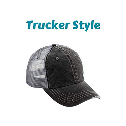 881800f3972cc Jeep Girl with Wrangler Distressed High Ponytail Baseball or Trucker ...