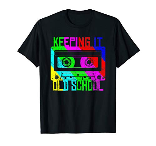 Cassette Tape Music T-Shirt Retro 80s Keeping it old School