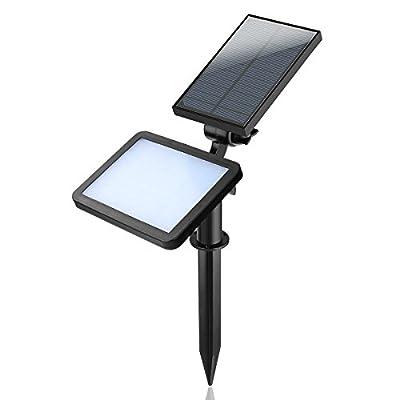 OurLeeme Solar Landscape Spotlights Outdoor, Solar Lawn Spotlights Auto Sensing and IP65 Waterproof High Brightness Lighting Build-in 2000 mAh Lithium Battery