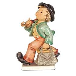 ISDD Cuckoo Clocks Hummel figurine merry wanderer, original MI Hummel Collection, gift-boxed