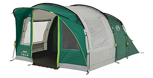 Coleman Rocky Mountain 5+ Tunnel Tent - 5 Person, Green, with Blackout Windows (Blackout Mountain)