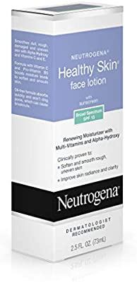 Neutrogena Healthy Skin Face Moisturizer Lotion with SPF 15 Sunscreen & Alpha Hydroxy Acid, Anti Wrinkle Cream with Glycerin, Glycolic Acid, Alpha Hydroxy, Vitamin C, Vitamin E & Vitamin B5, 2.5 fl.oz