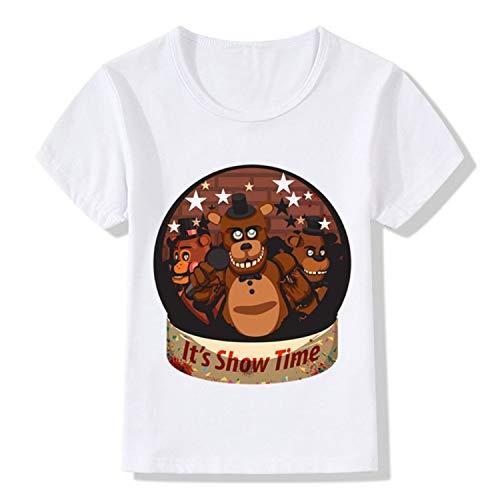 - KoreaFashion FNAF Shirt Cotton Merch Shirts for Kids Youth Birthday Welcome Funny Nightmare T-Shirt