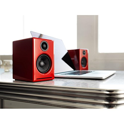 Audioengine A2+ Limited Edition Premium Powered Desktop Speaker Package (Red) With DS1 Desktop Speaker Stands by Audioengine (Image #4)