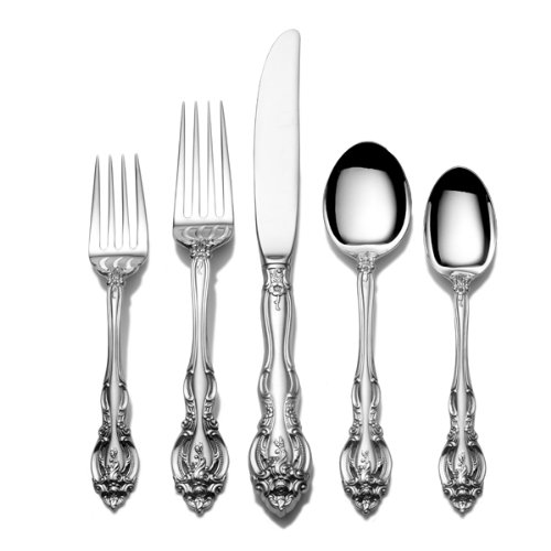 Gorham La Scala 5-Piece Sterling Silver Flatware Dinner Set, Service for 1