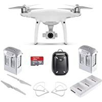 DJI Phantom 4 Pro Quadcopter w/ Advanced Bundle: Includes 2 Phantom 4 Batteries, Shockproof Backpack, SanDisk 32GB Ultra MicroSD Card and more...