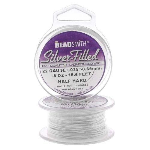 Beadsmith Silver Filled Wire - 22 Gauge Round Half Hard - 0.5oz (15.6 Feet)