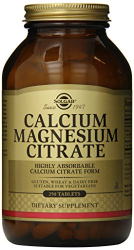 Solgar Calcium Magnesium Citrate Tablets, 250 comte