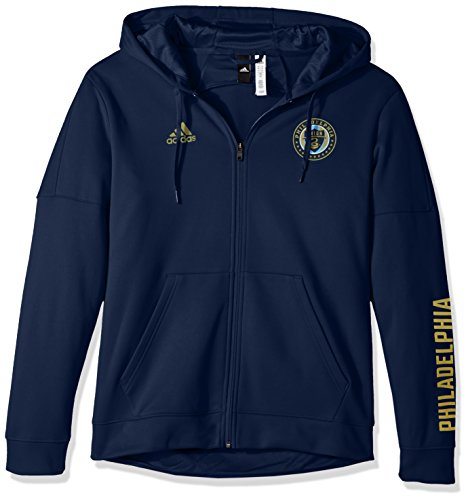 fan products of MLS Philadelphia Union Adult Men Armed Team Issue Full Zip Hood, Medium, Collegiate Navy