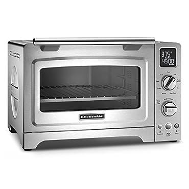 KitchenAid KCO275SS Convection 1800-watt Digital Countertop Oven, 12, Stainless Steel