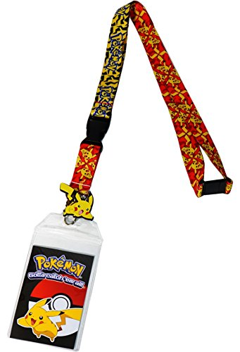 Pokemon Pikachu Attack Exclusive Lanyard with ID Badge Holder & PVC Rubber Charm