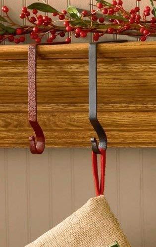 Iron Plain Stocking Hanger - 4 Pack - Black by Park Designs