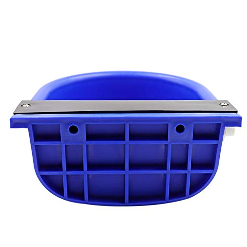 MUDUOBAN Blue Automatic Water Bowl with Drainage Hole for Dog Cattle Horse Float Valve Sheep Goat Calf Sow Large Animal Waterer by Livestocktool