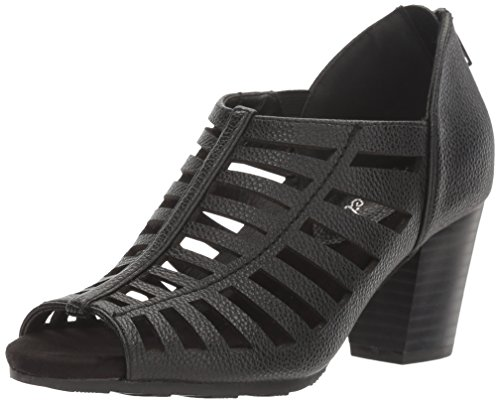 Easy Street Womens Pilot Heeled Sandal Black Pebble SS0iGh8JG