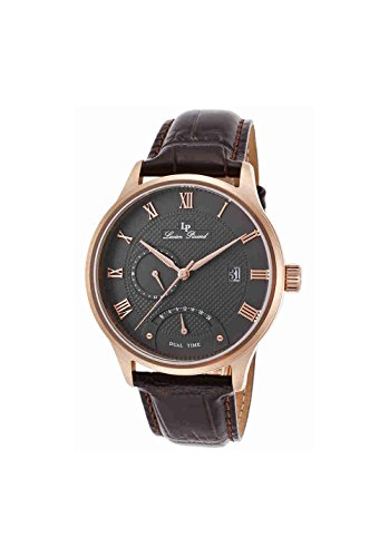 Lucien Piccard Men's LP-10339-RG-014-BRW Volos Analog Display Japanese Quartz Brown Watch - Swiss Legend Rose Gold Tone Watch